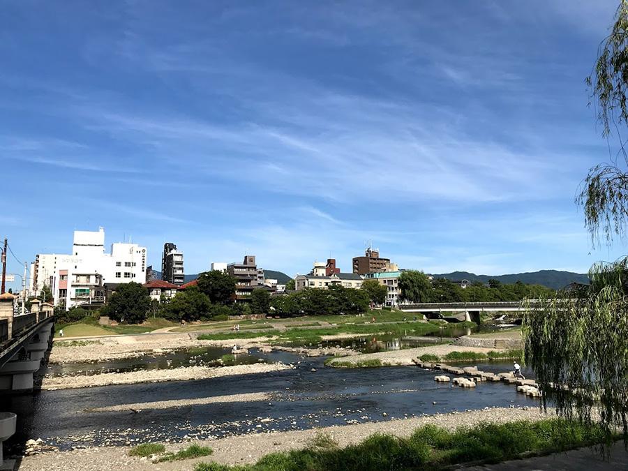 京都、鴨川の風景