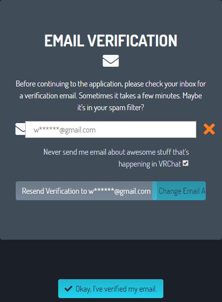 VRChat メール確認