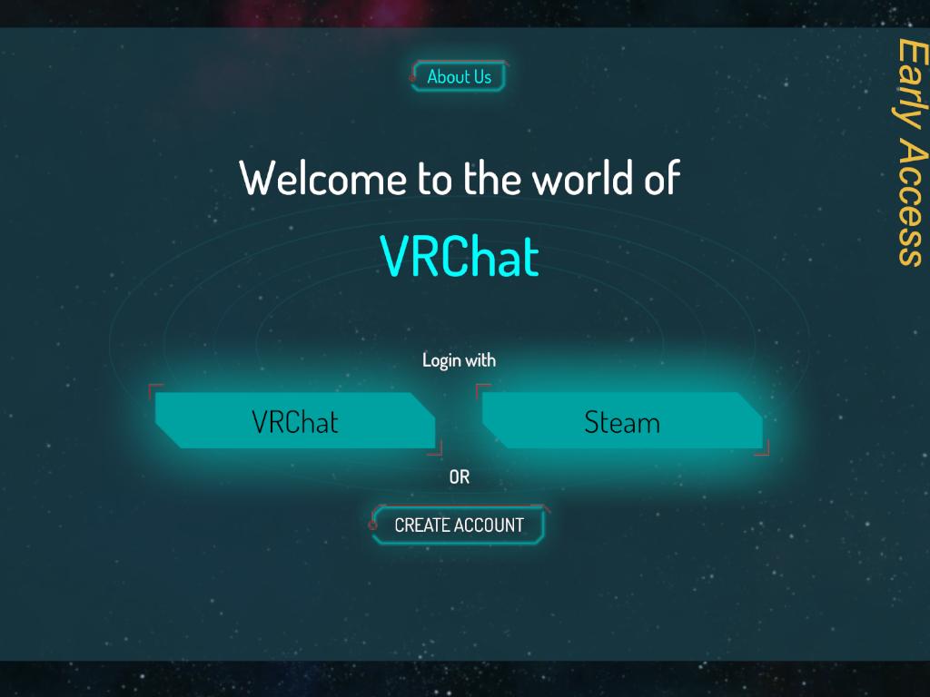 VRChat 起動畫面