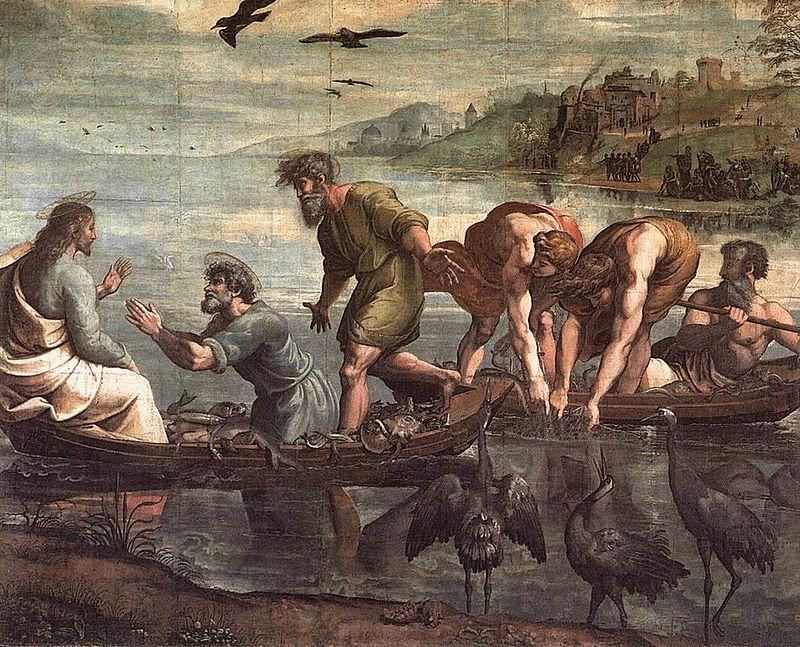 ラファエロ・サンティ《奇跡の漁り》ヴィクトリア&アルバート博物館