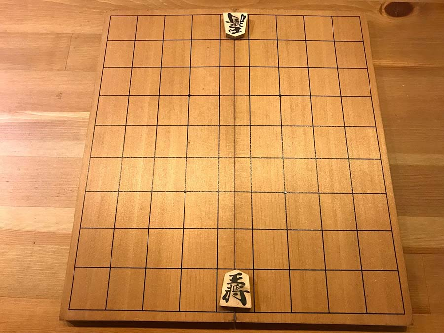 將棋の王將の配置