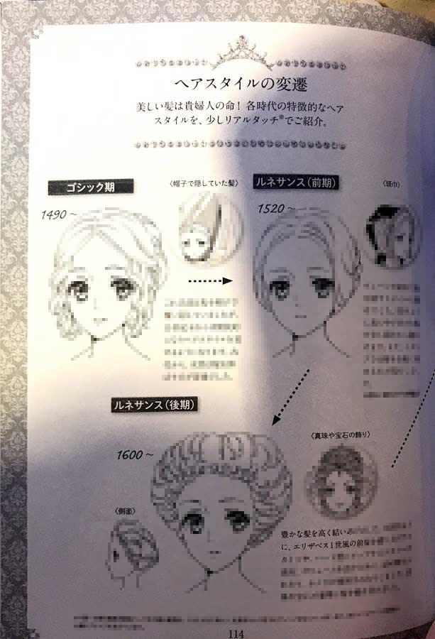 ドレス圖鑑 髮型について