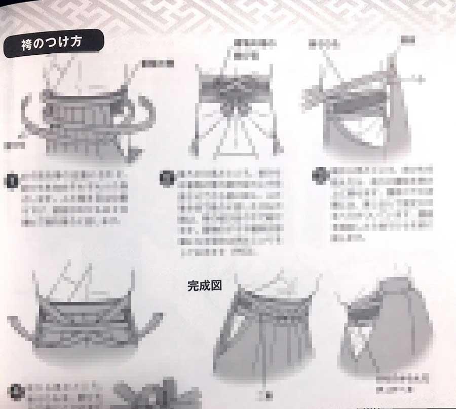 着物の描き方 袴